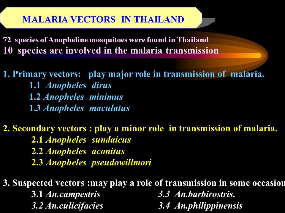 MALARIA VECTOR BIONOMIC