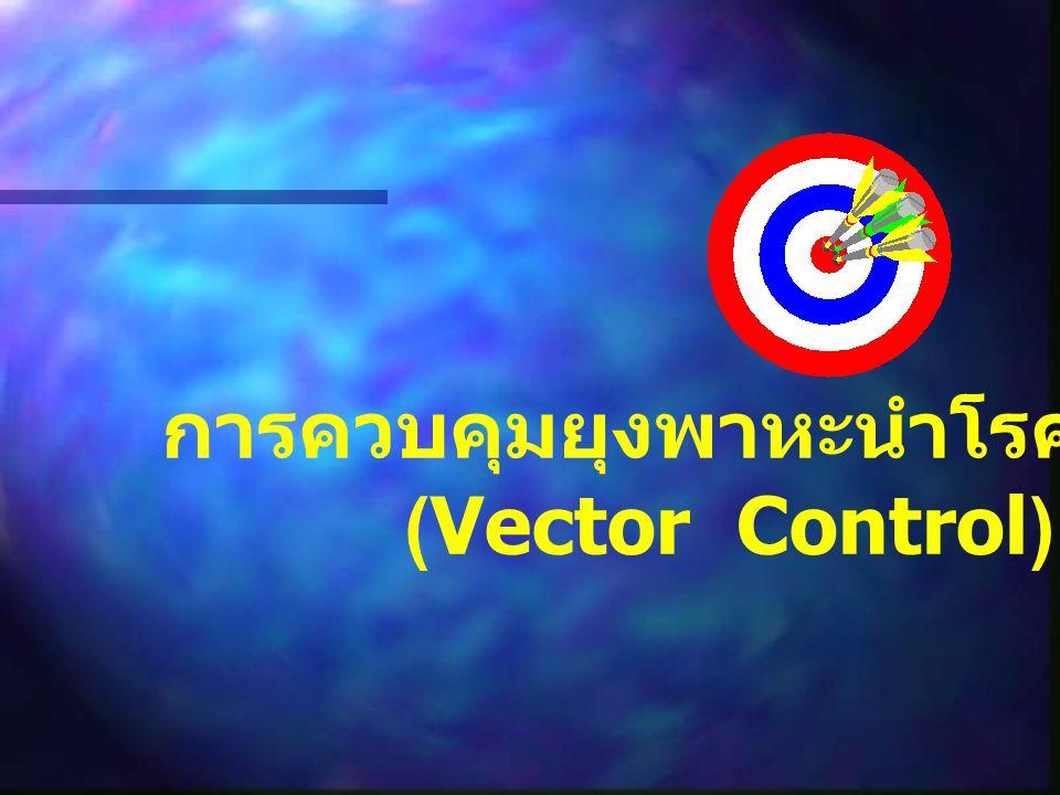 การควบคุมยุงพาหะนำโรคไข้มาลาเรีย (Vector Control)