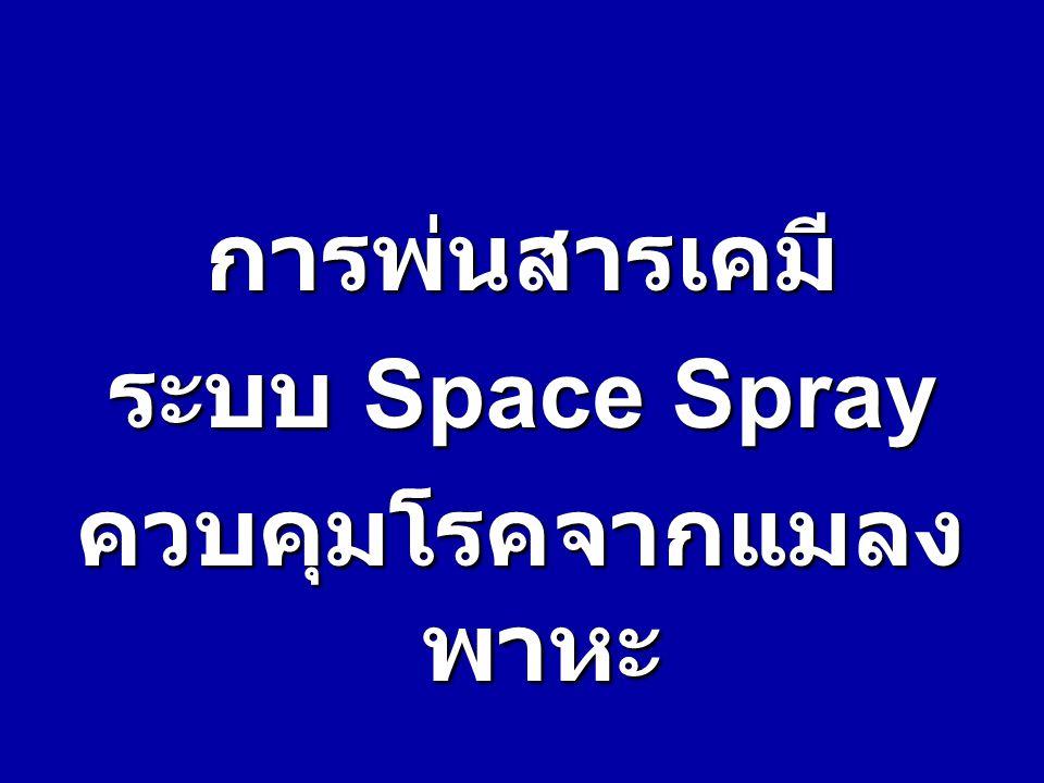 การพ่นสารเคมี ระบบ ระบบ Space Space Spray ควบคุมโรคจากแมลง พาหะ