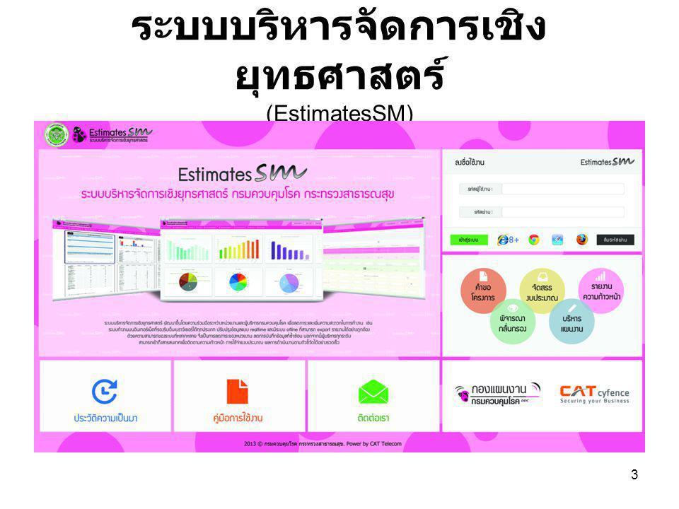 ระบบบริหารจัดการเชิง ยุทธศาสตร์ (EstimatesSM) 3