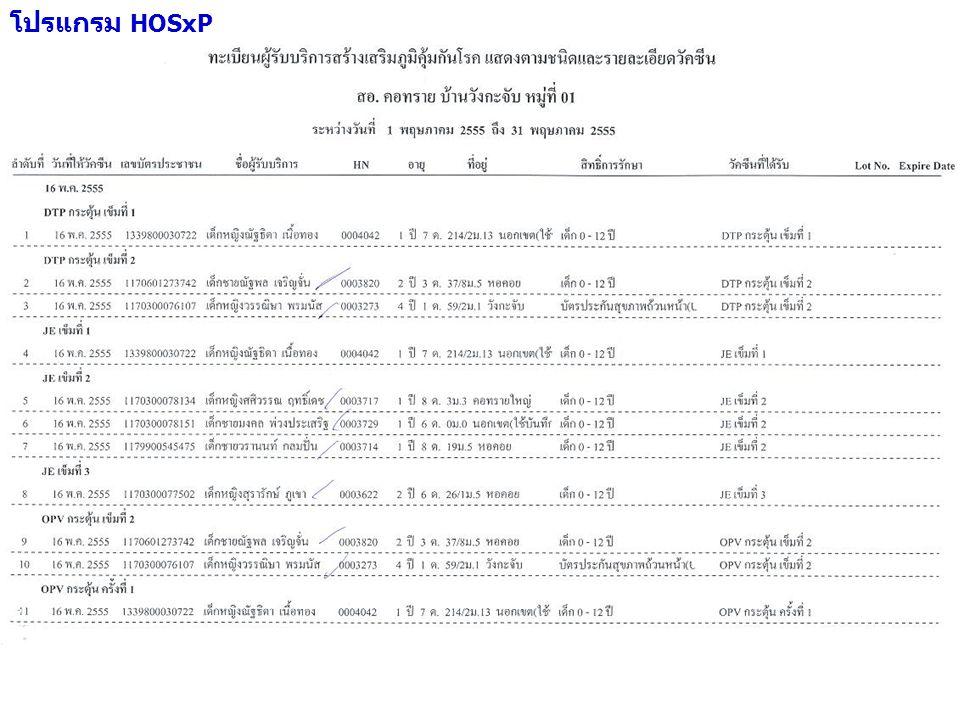 โปรแกรม HOSxP