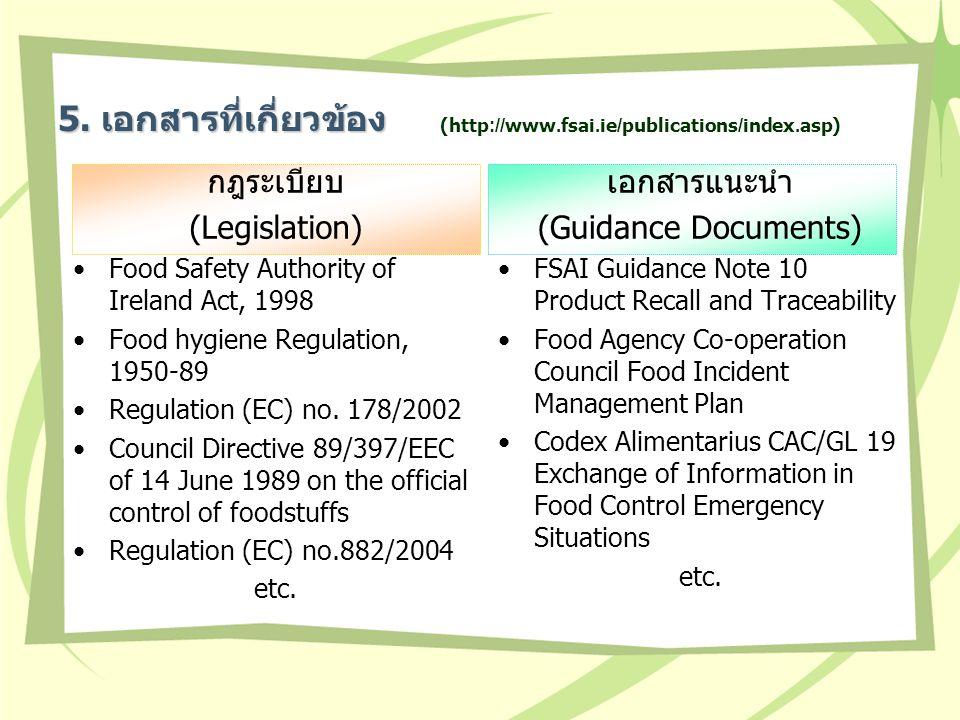ส่วนประกอบใน COP no.5 ส่วนที่ 1: การจัดการอุบัติการณ์ และการแจ้งเตือนเร่งด่วนภายในประเทศ ส่วนที่ 2: การจัดการด้านการประสานงานกับแต่ละประเทศ