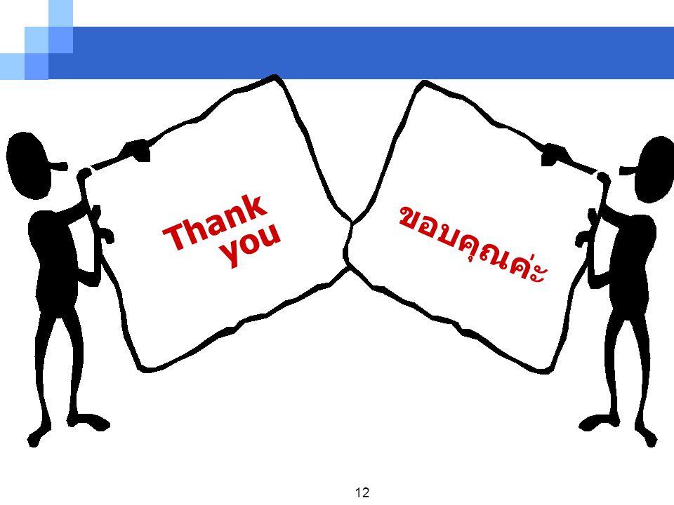 12 Thank you ขอบคุณค่ะ
