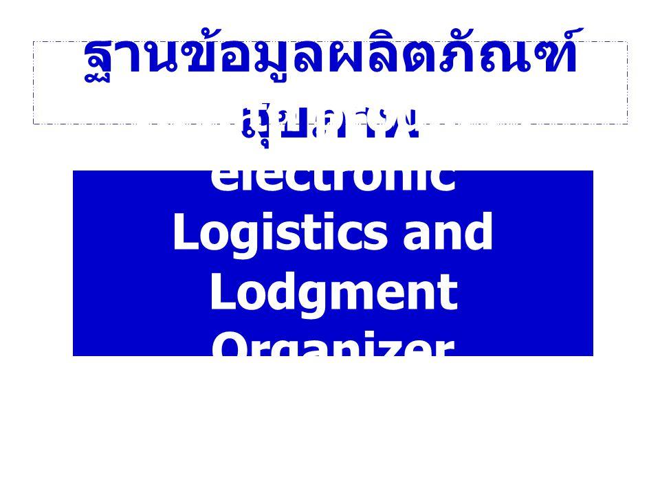 ฐานข้อมูลผลิตภัณฑ์ สุขภาพ Health products electronic Logistics and Lodgment Organizer HeLLO
