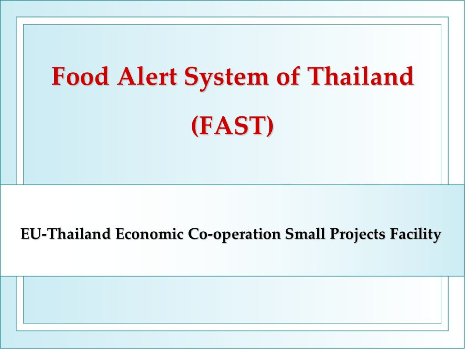 Problems of Food safety control system in Thailand Complexity of the system from many stakeholders and authorities implementing various laws and regulations without effective information exchange.