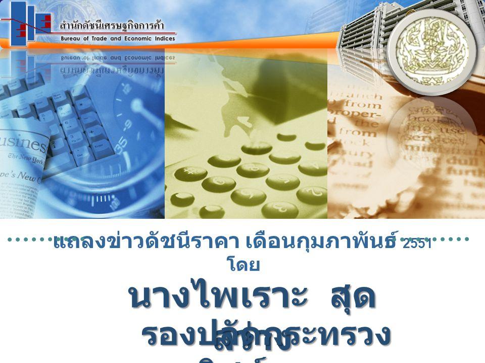 www.price.moc.go.th ดัชนีราคาผู้บริโภคพื้นฐานของ ประเทศ กพ. 51 อัตรา (%)
