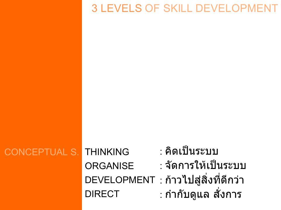 3 LEVELS OF SKILL DEVELOPMENT CONCEPTUAL S.
