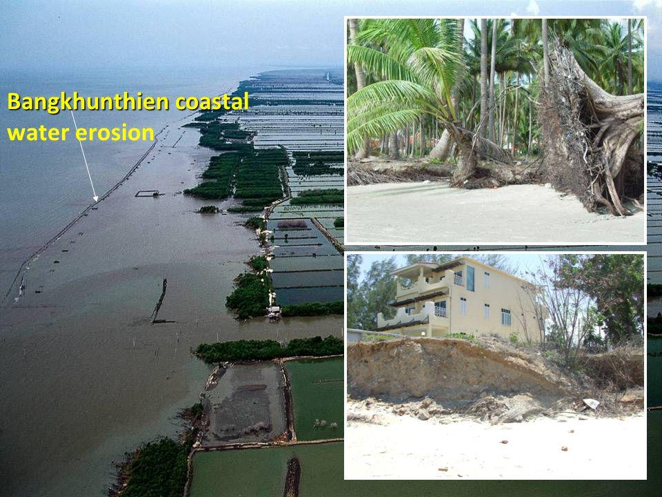 30-10-2007 ดร. จิรพล สินธุนาวา 31 Bangkhunthien coast Bangkhunthien coastal water erosion