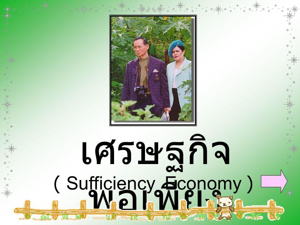 เศรษฐกิจ พอเพียง ( Sufficiency Economy )