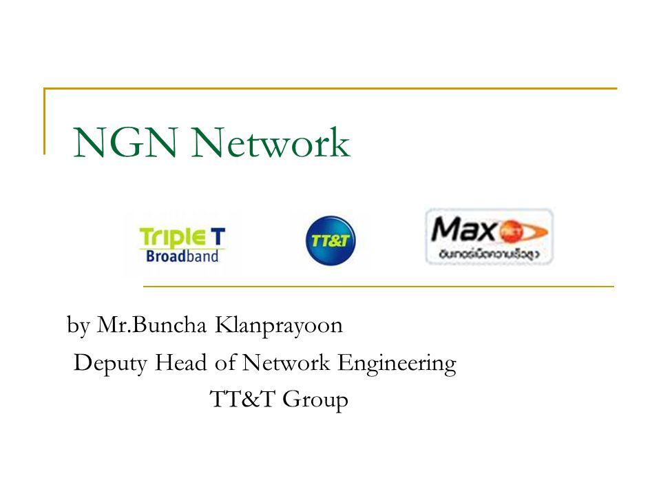 NGN Network by Mr.Buncha Klanprayoon Deputy Head of Network Engineering TT&T Group
