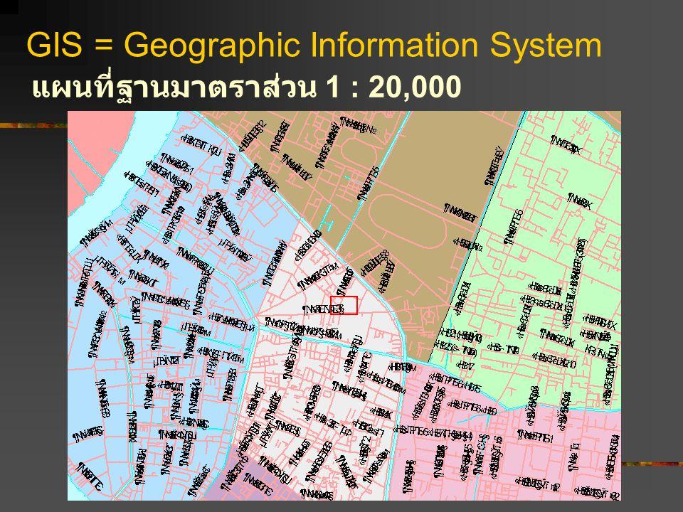 GIS = Geographic Information System แผนที่ฐานมาตราส่วน 1 : 20,000