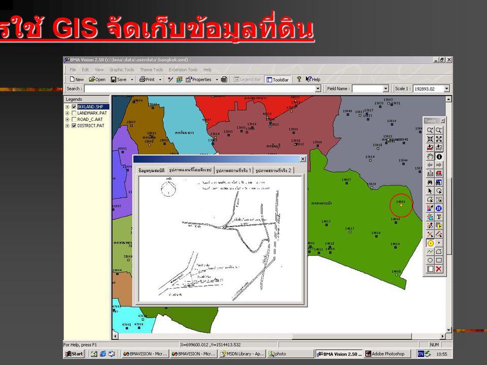 การใช้ GIS จัดเก็บข้อมูลที่ดิน
