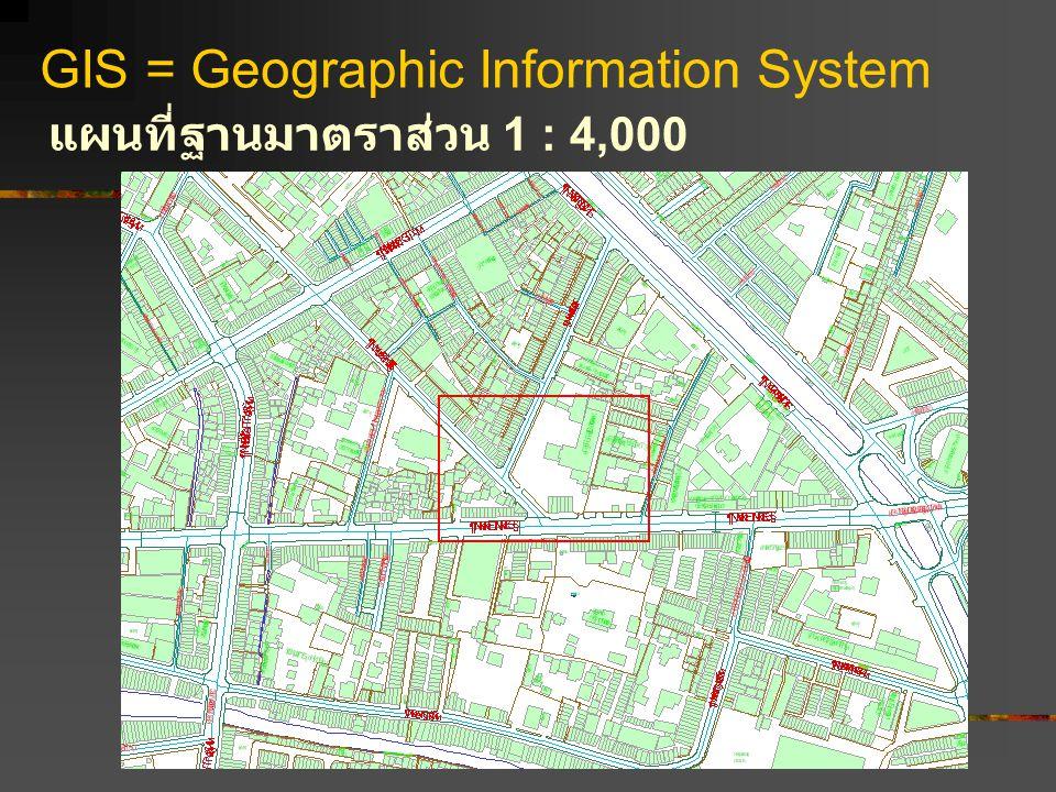 GIS = Geographic Information System แผนที่ฐานมาตราส่วน 1 : 4,000