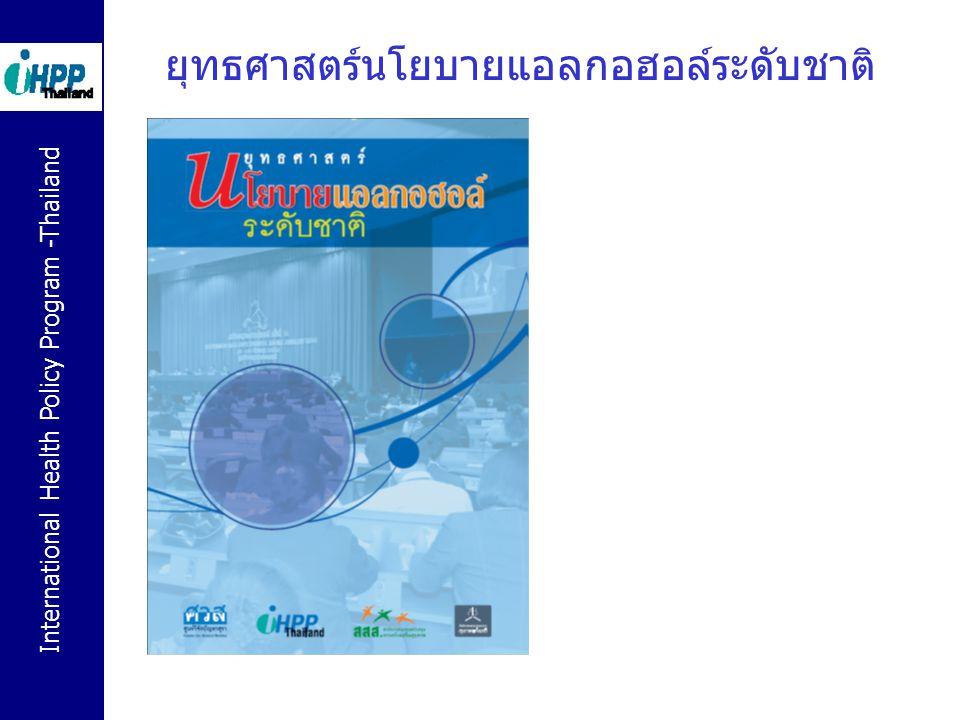 International Health Policy Program -Thailand ยุทธศาสตร์นโยบายแอลกอฮอล์ระดับชาติ