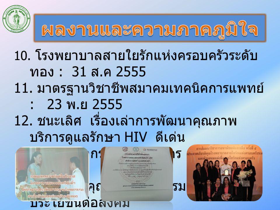10.โรงพยาบาลสายใยรักแห่งครอบครัวระดับ ทอง : 31 ส.