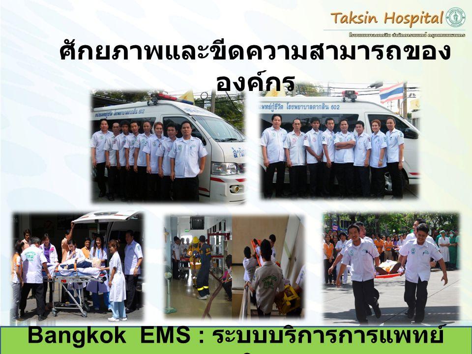 Bangkok EMS : ระบบบริการการแพทย์ ฉุกเฉิน ศักยภาพและขีดความสามารถของ องค์กร