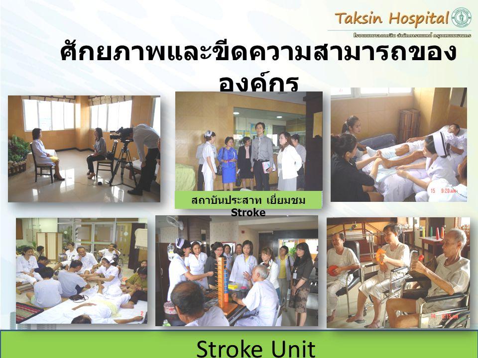 ศักยภาพและขีดความสามารถของ องค์กร Stroke Unit สถาบันประสาท เยี่ยมชม Stroke