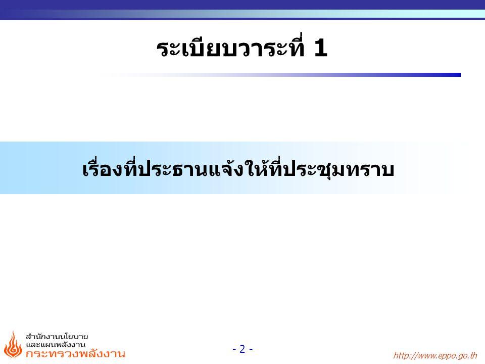 http://www.eppo.go.th - 2 - ระเบียบวาระที่ 1 เรื่องที่ประธานแจ้งให้ที่ประชุมทราบ