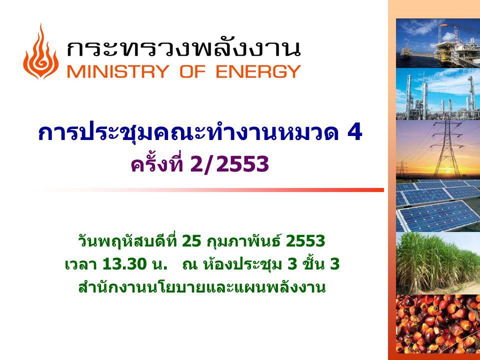 การประชุมคณะทำงานหมวด 4 ครั้งที่ 2/2553 วันพฤหัสบดีที่ 25 กุมภาพันธ์ 2553 เวลา 13.30 น.