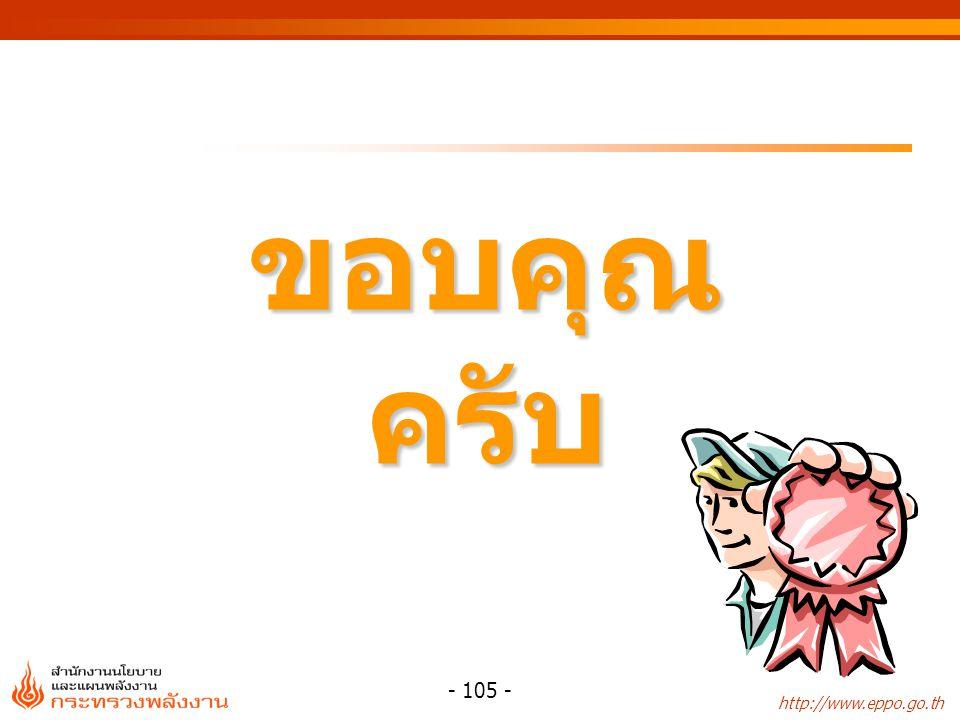 http://www.eppo.go.th - 105 - ขอบคุณครับ