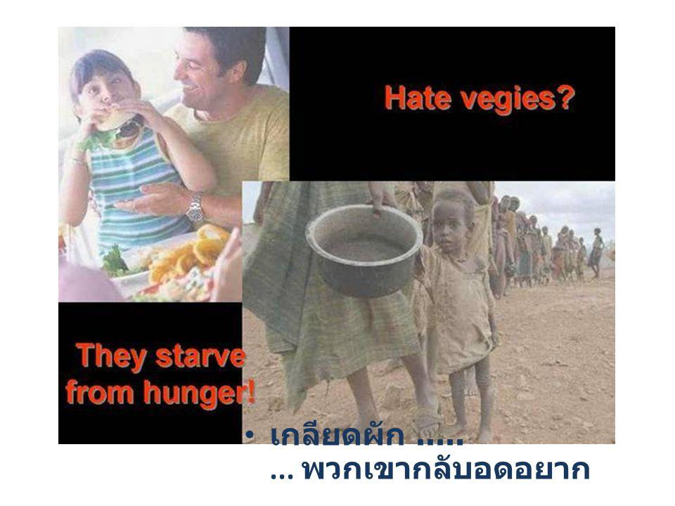 เกลียดผัก........ พวกเขากลับอดอยาก.............