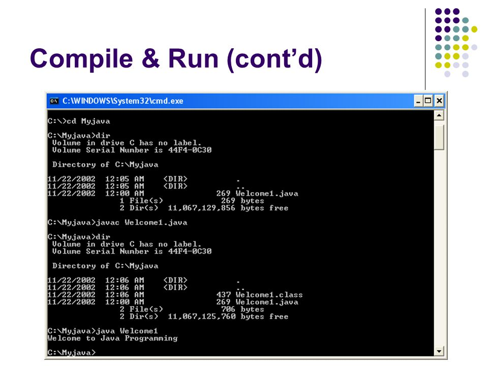 Compile & Run (cont'd)