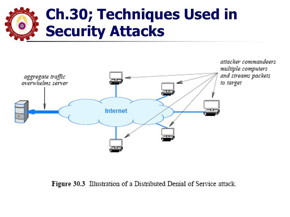 Content Scanning and Deep Packet Inspection ปกติ Firewall จะกัน Virus ไม่ได้ เพราะไม่ สามารถตรวจสอบภายใน Packet เช่นการส่ง Virus ผ่าน E-mail Attachment เราต้องการการทำ Content Analysis File Scanning ทำโดย Security Software บน PC File Scanner จะนำ File ที่ได้รับ และทำการตรวจหา Pattern ที่ น่าจะมีปัญหา เช่น String ของ Byte ที่เรียก 'Finger Print' อย่างไรก็ตาม เป็นไปได้ที่อาจจะเกิด 'False Positive' หรือ 'False Negative' Deep Packet Inspection(DPI) จะเป็นการตรวจสอบภายใน Packet แทนที่จะตรวจสอบ File ซึ่ง ในการนี้มันสามารถตรวจสอบ Packet ที่วิ่งเข้า-ออก ทั้งส่วน Header และ ภายใน Payload ด้วยเหตุนี้มันจะทำงานได้ ค่อนข้างช้าเทียบกับ Firewall และไม่เหมาะกับ High-Speed Network