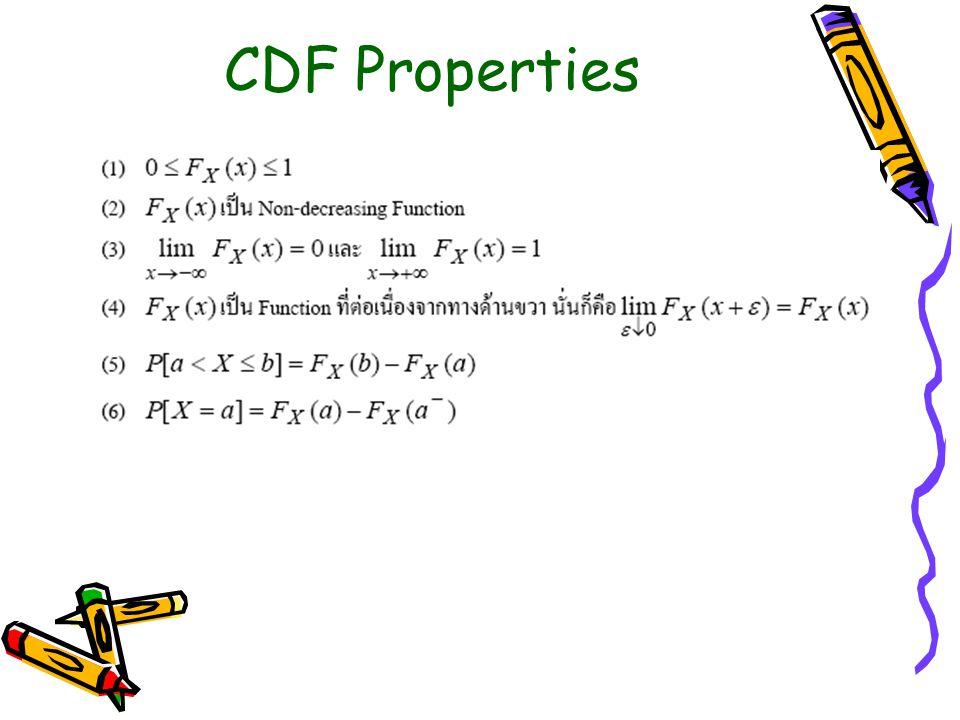 CDF Properties