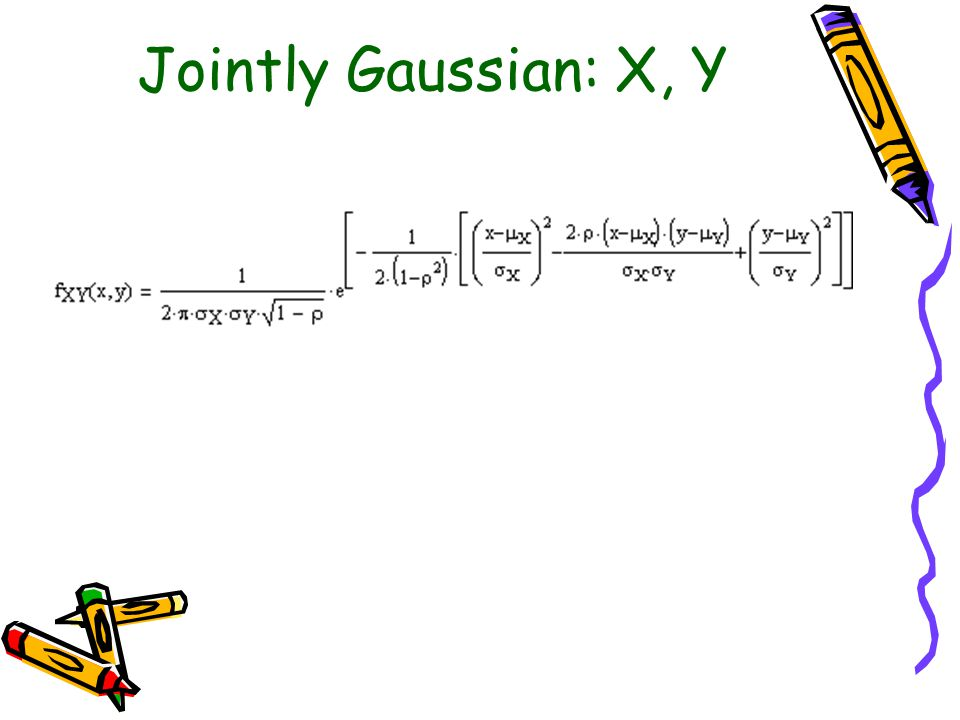 Jointly Gaussian: X, Y