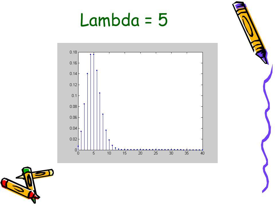 Lambda = 5