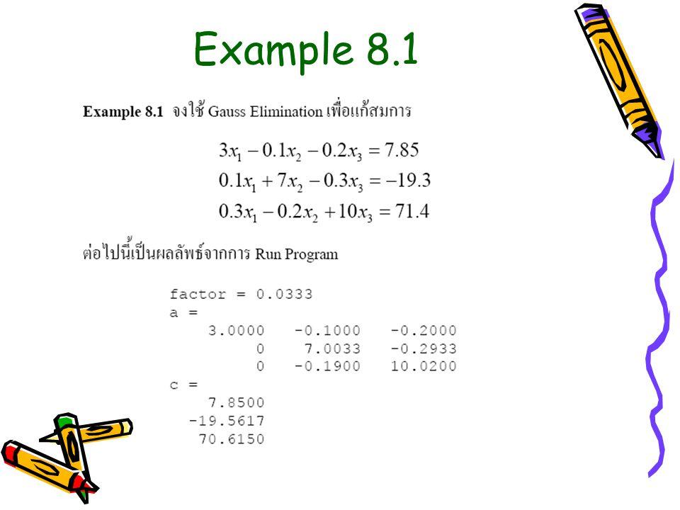 Example 8.1