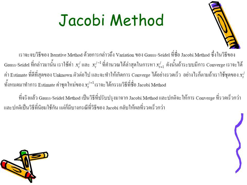 Jacobi Method