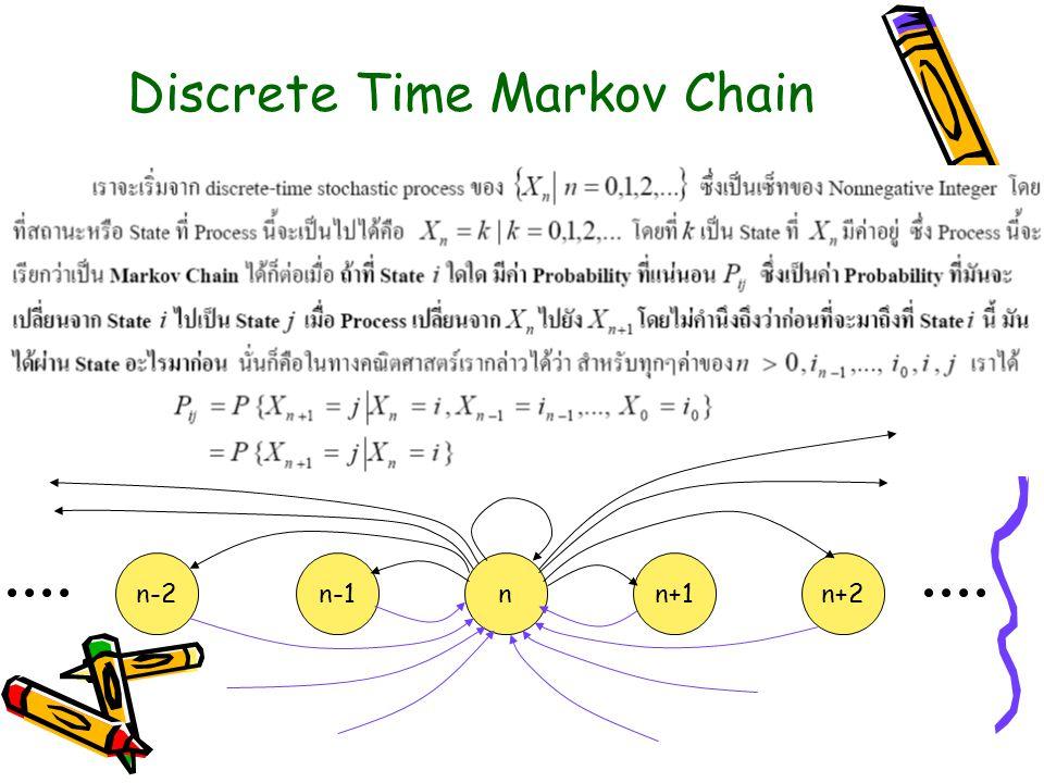 Discrete Time Markov Chain nn+1n+2n-1n-2