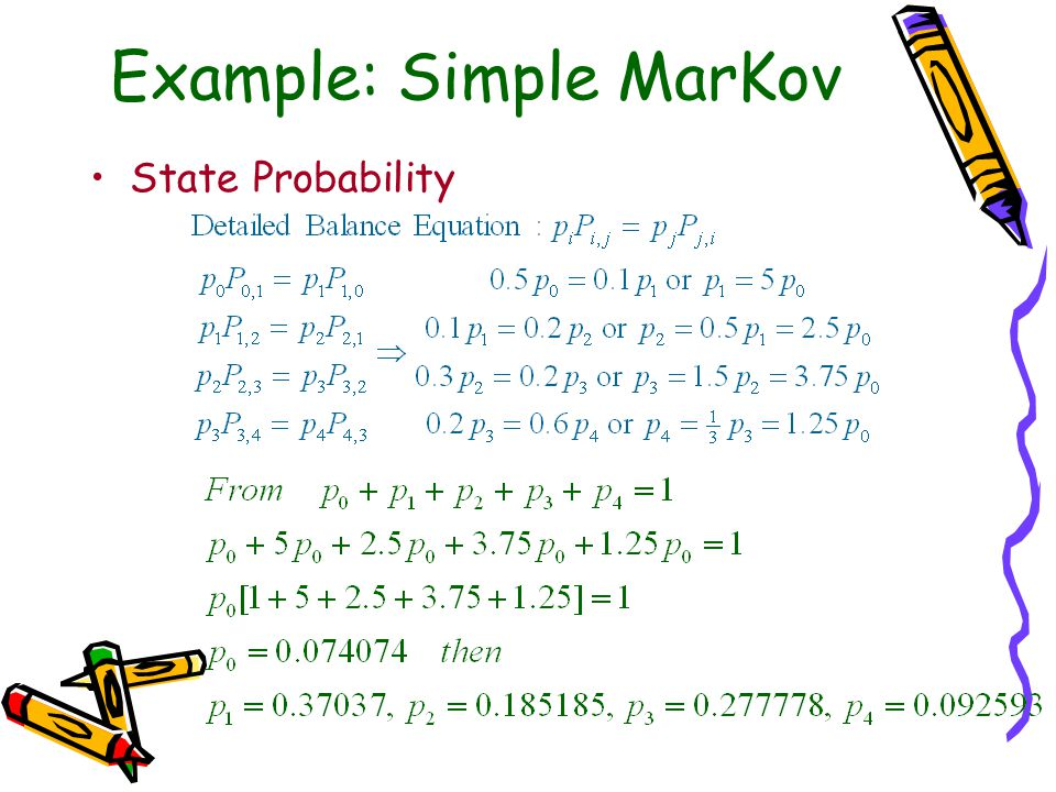 Example: Simple MarKov State Probability