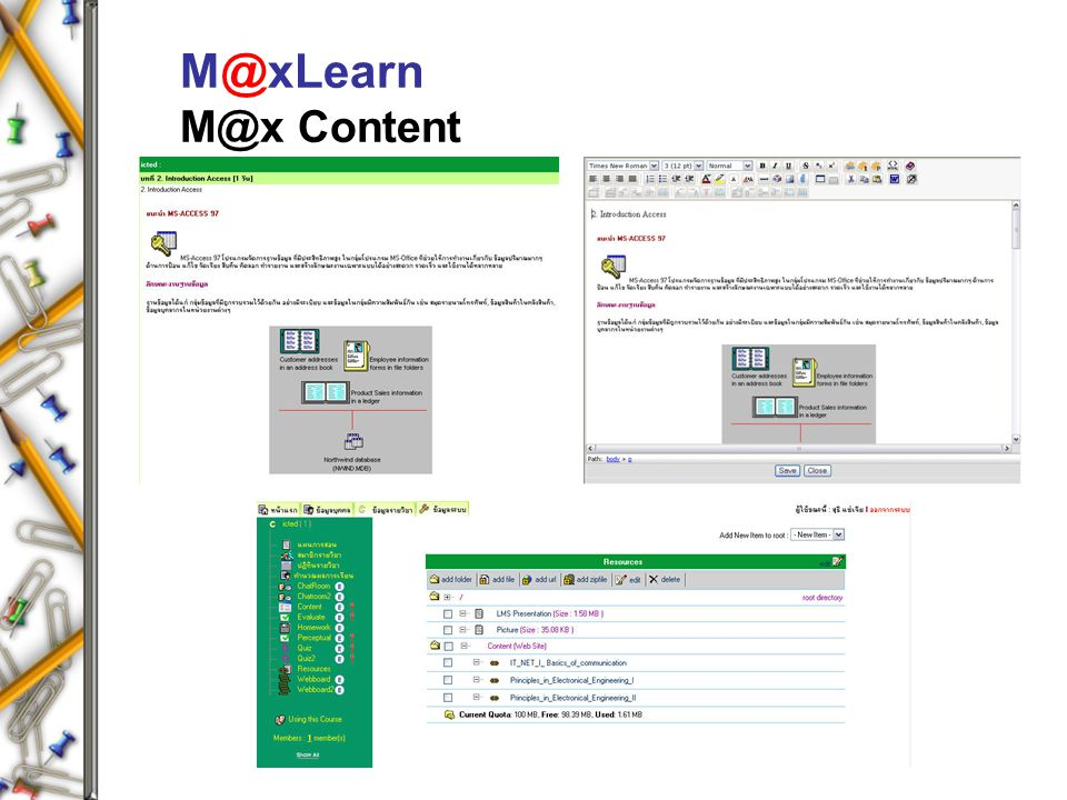M@xLearn M@x Content