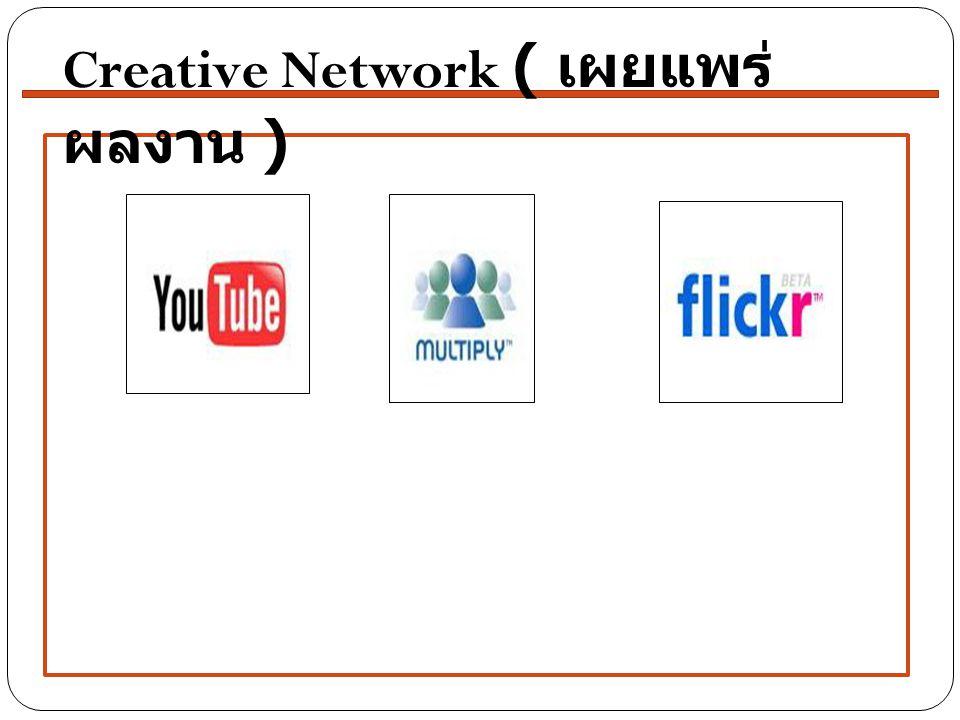 Creative Network ( เผยแพร่ ผลงาน )