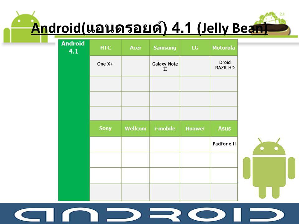 Android( แอนดรอยด์ ) 4.1 (Jelly Bean)