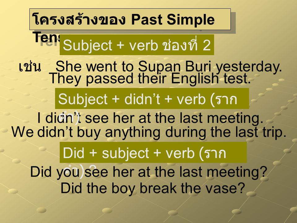 ความแตกต่างระหว่าง Present Simple & Past Simple Present Simple Past Simple เกิดขึ้นในปัจจุบันเกิดขึ้นในอดีต นิสัยที่ทำอยู่ในปัจจุบันนิสัยที่เลิกทำแล้ว เหตุการณ์ที่จะเกิดใน อนาคตใกล้ๆ - สุภาษิต คำพังเพย -