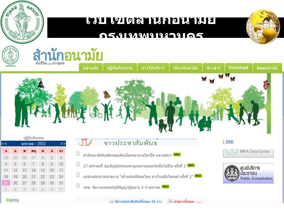 LOGO เว็บไซต์สำนักอนามัย กรุงเทพมหานคร