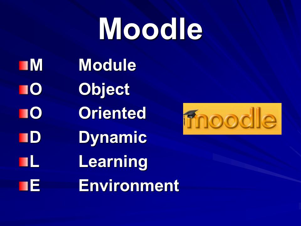 Moodle MModule OObject OOriented DDynamic LLearning EEnvironment