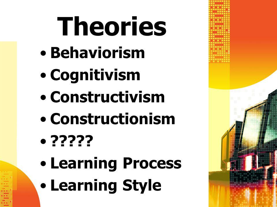 Theories Behaviorism Cognitivism Constructivism Constructionism ????.