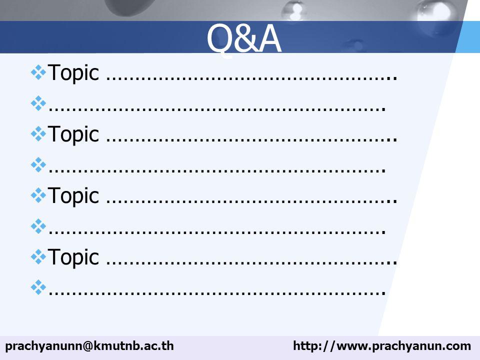 LOGO Q&A  Topic ………………………………………….. ………………………………………………….
