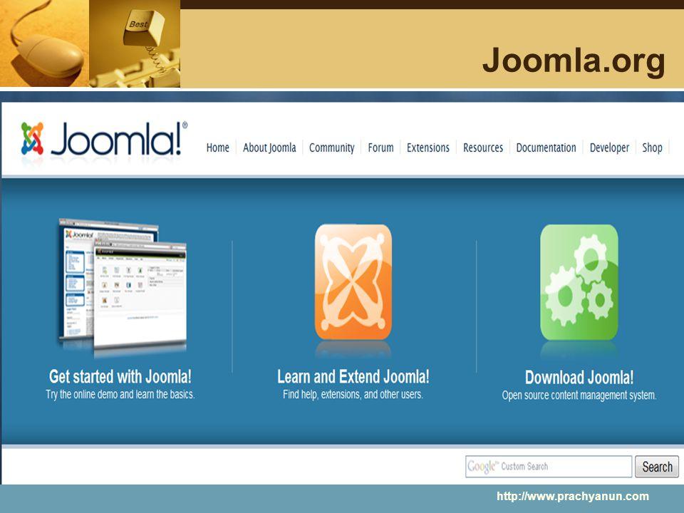 Joomla.org http://www.prachyanun.com