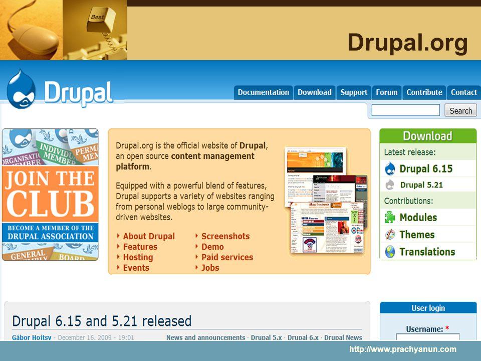 Drupal.org http://www.prachyanun.com