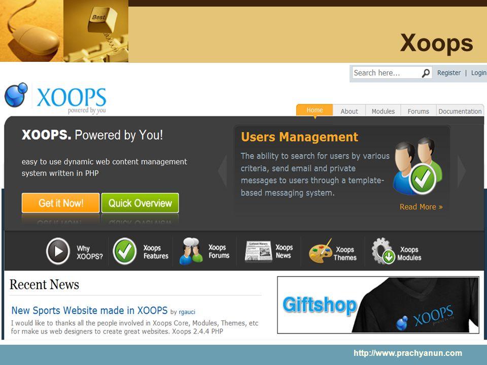 Xoops http://www.prachyanun.com
