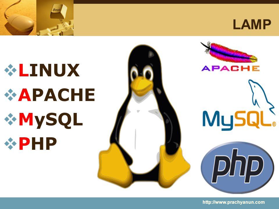 LAMP  LINUX  APACHE  MySQL  PHP http://www.prachyanun.com