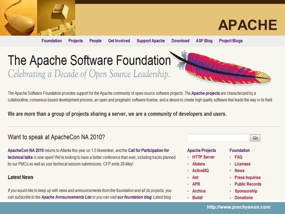 APACHE http://www.prachyanun.com