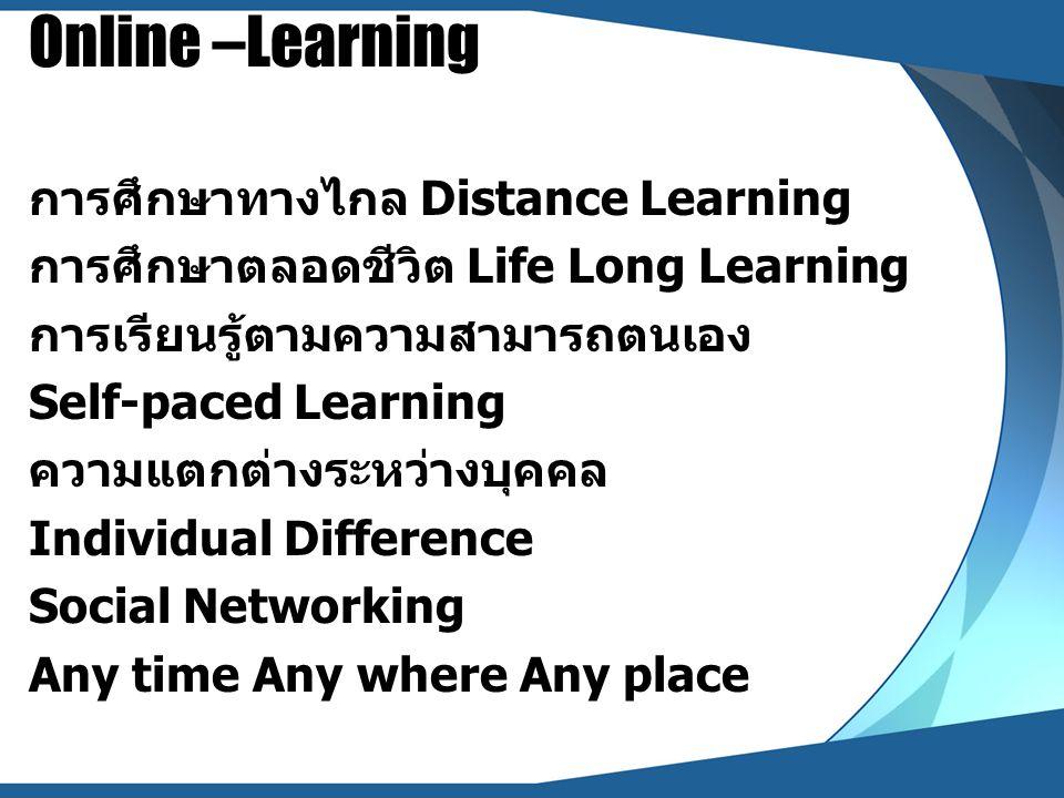 Synchronous Learning การเรียนรู้ในเวลาเดียว หมายถึง การใช้สื่อ ออนไลน์เพื่อการเรียนรู้ในเวลาจริง (Real Time) ตอบโต้และมีปฏิสัมพันธ์ได้ทันทีในเวลา เดียวกัน สื่อออนไลน์ : Synchronous Learning ได้แก่ Chat Room, Web Conference, MSN, CamFrog ฯลฯ