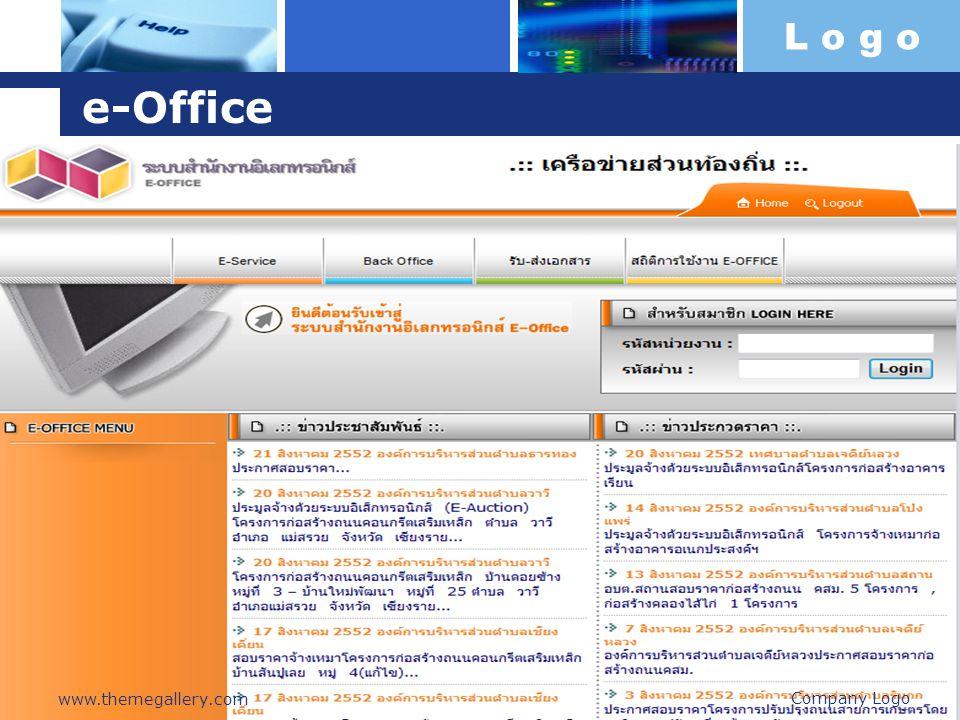 L o g o e-Office Company Logo www.themegallery.com