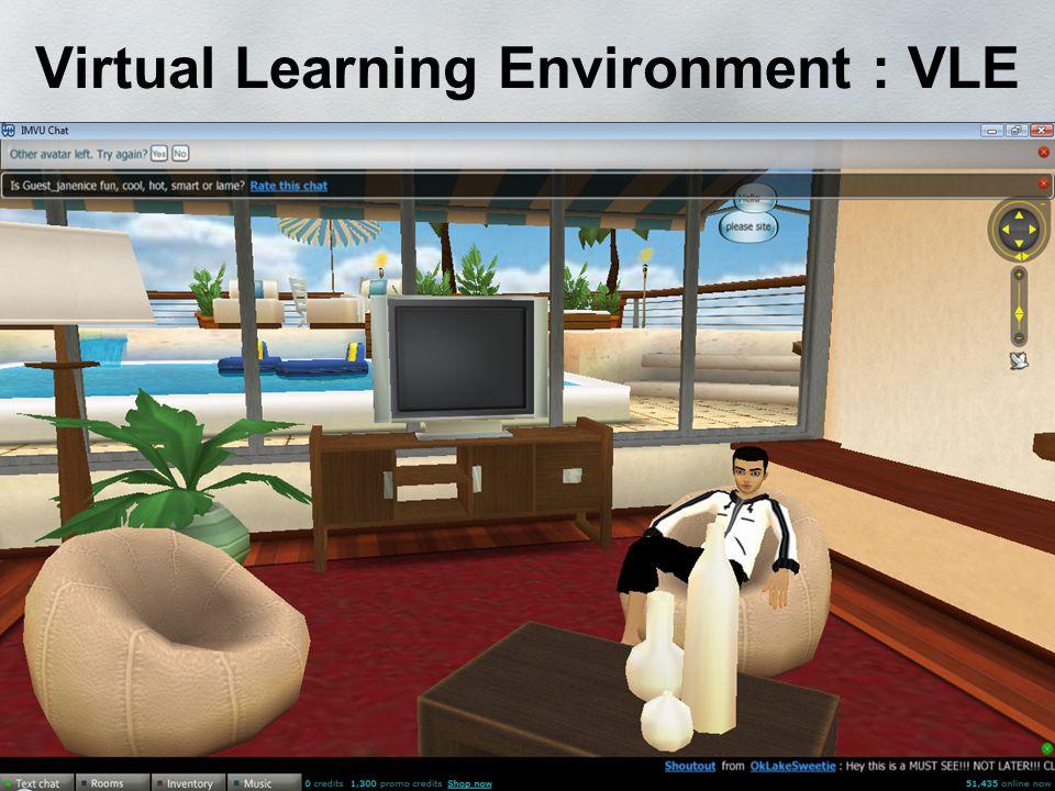 Virtual Learning Environment : VLE Second Life IMVU